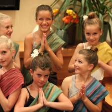 Girls finish dance - small